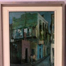 Arte: A RIO , VISTA DE CALLE, OLEOGRAFIA. ENMARCADO 40X47CM. Lote 218928552