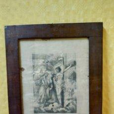 Arte: LITOGRAFÍA ANTIGUA SANTA LUTGARDA VIRGEN, 2000-155. Lote 89643856