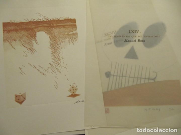 Arte: CARPETA - 9 GRAVADORS INTERPRETEN AUSIAS MARCH - JOAN GENOVES,ARCADI BLASCO,ARTUR HERAS,ANTONI MIRO, - Foto 10 - 219277500