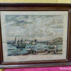 Arte: LITOGRAFÍA ANTIGUA MARSELLA, 2000-218. Lote 89718320