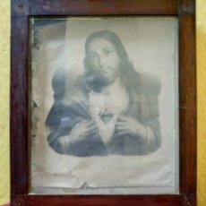 Arte: LITOGRAFÍA SAGRADO CORAZÓN DE JESÚS, 2000-183. Lote 89714592