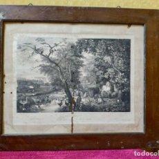 Arte: LITOGRAFÍA ANTIGUA EL PARAÍSO TERRENAL, 2000-188. Lote 89715240