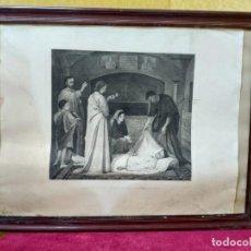 Arte: LITOGRAFÍA ANTIGUA ENTIERRO DE SAN LORENZO, 2000-204. Lote 89716780