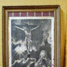 Arte: LITOGRAFÍA ANTIGUA JESÚS EN LA CRUZ, 2000-217. Lote 89718104