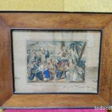 Arte: LITOGRAFÍA ANTIGUA ABEL EN EL DESIERTO, 2000-221. Lote 89718868