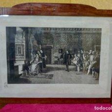 Arte: LITOGRAFÍA ANTIGUA RECEPCIÓN REAL, 2000-230. Lote 89722916