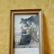 Arte: LITOGRAFÍA ANTIGUA SAN JOSE, MARÍA Y JESÚS, 2000-179. Lote 89712808