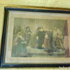 Arte: LITOGRAFÍA ANTIGUA ESCENA PALACIEGA, 2000-226. Lote 89719724