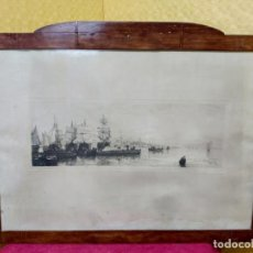 Arte: LITOGRAFÍA ANTIGUA PAISAJE MARINO, 2000-232. Lote 89720752