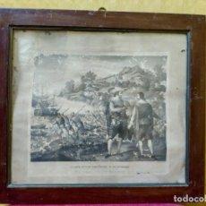 Arte: LITOGRAFÍA ANTIGUA ATAQUE ENTRE ESPAÑOLES, 2000-187. Lote 89715148