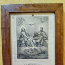 Arte: LITOGRAFÍA ANTIGUA SANTISIMA TRINIDAD, 2000-177. Lote 89651696
