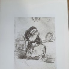 Arte: LITOGRAFIA DE GOYA. LA VIEJA DEL ESPEJO. 117 (INV 412) 192X151 DEL ÁLBUM DE BURDEOS 1824-1828. Lote 220709385