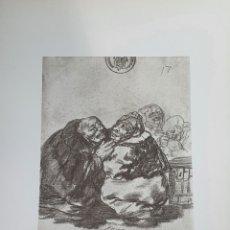 Arte: LITOGRAFIA DE GOYA. CONSULTA MÉDICA. 114 (INV 401) 192X151 DEL ÁLBUM DE BURDEOS 1824-1828. Lote 220709410