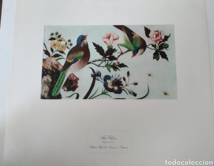 ANTIGUA LITOGRAFÍA ARTE CHINO. PALACIO REAL DE ARANJUEZ SELLO PATRIMONIO NACIONAL.LÁMINA XV (Arte - Litografías)