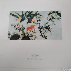 Arte: ANTIGUA LITOGRAFÍA ARTE CHINO. PALACIO REAL DE ARANJUEZ SELLO PATRIMONIO NACIONAL.LÁMINA XVI. Lote 220821208