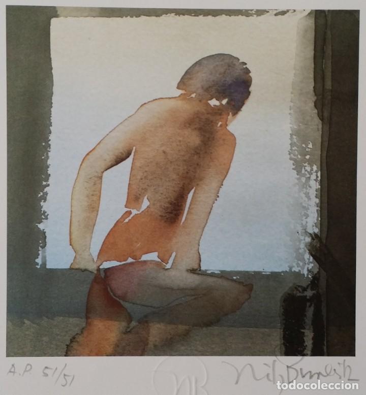 Arte: Nils Burwitz, litografía firmada, numerada y enmarcada en caja - Foto 4 - 177787377