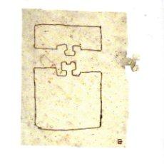 Arte: EDUARDO CHILLIDA - LITOGRAFIA ORIGINAL DERRIERE LE MIROIR - 1980. Lote 220876332