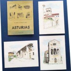 Arte: COLECCION DE 3 LAMINAS SOBRE ASTURIAS 26X34. Lote 221106610