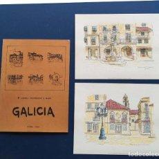 Arte: COLECCION DE 2 LAMINAS SOBRE GALICIA 26X34. Lote 221107131