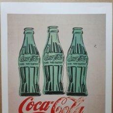 Arte: ANDY WARHOL (AFTER) - THREE COKE BOTTLES, 1962 - REPRINT - LITOGRAFIA ORIGINAL DE FUNDACIÓN - 1998. Lote 221159301