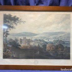 Arte: LITOGRAFIA COLOREADA INGLATERRA LONDON MELROSE CIUDAD VISTA 1825 CLARK DIBUJO LIT SMITH ELDER 53X70C. Lote 221662626