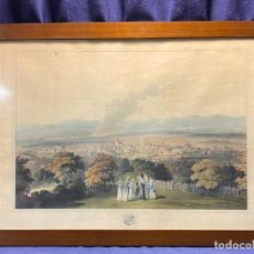 Arte: LITOGRAFIA COLOREADA INGLATERRA LONDON FALKIRK CIUDAD VISTA 1824 CLARK DIBUJO LIT SMITH ELDER 53X70C. Lote 221663297