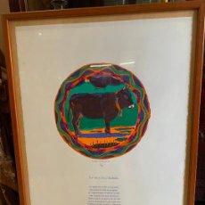 Arte: PRECIOSA LITOGRAFIA 42/50 LA VACA DE L'ALBERA. IGNASI ESTEVE I JOSEP PUJOL PETIT BESTIARI EMPORDANES. Lote 221664016