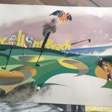 Arte: JOSEP RENAU LITOGRAFIA RECOLLONS BEACH VALENCIA COLECCION ARTE. Lote 221907190