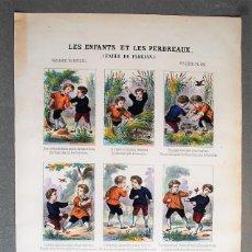 Arte: LES ENFANTS ET LES PERDREAUX. FABLE DE FLORIAN. FÁBULA. AUCA. ALELUYA. IMAGERIE NOUVELLE.. Lote 221925207
