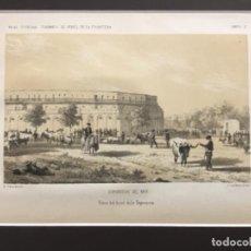 Arte: JEREZ DE LA FRONTERA ESPOSICION DE 1856. PRIMEROS PREMIOS. VISTA DEL LOCAL DE LA EXPOSICION. Lote 221927411