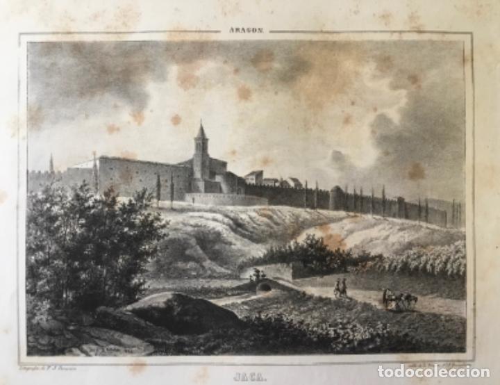 ARAGON. JACA. PARCERISA. (LIT. 22,5 X 32,7 CM. TOTAL 31 X 38,5 CM.) (Arte - Litografías)