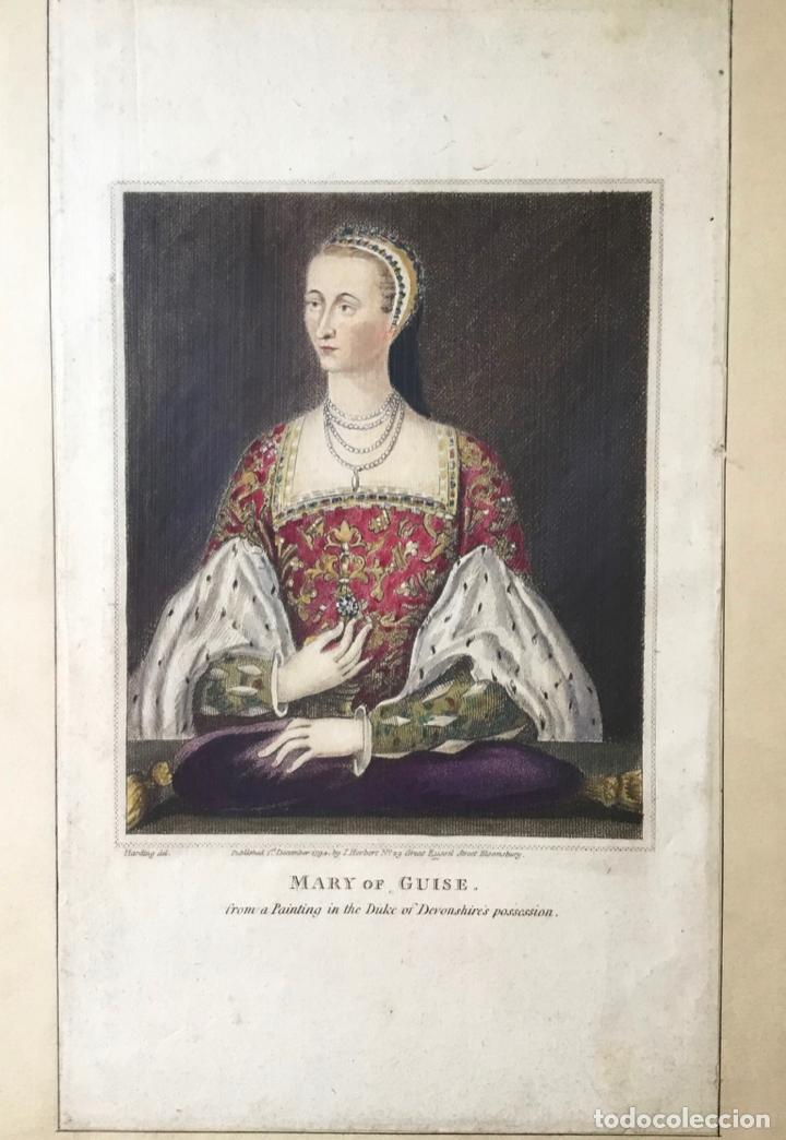Arte: MARY OF GUISE. FROM A PAINTING IN THE DUKE OF DEVONSHIRES POSSESSION. (LIT. 23,7 X 13,8 CM) - Foto 2 - 222018567