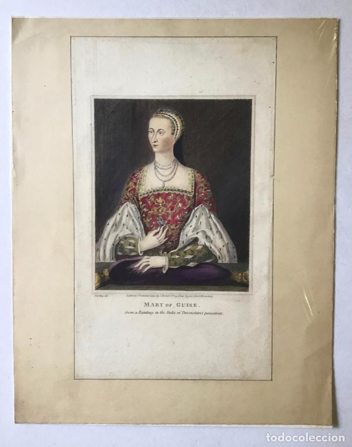 Arte: MARY OF GUISE. FROM A PAINTING IN THE DUKE OF DEVONSHIRES POSSESSION. (LIT. 23,7 X 13,8 CM) - Foto 3 - 222018567