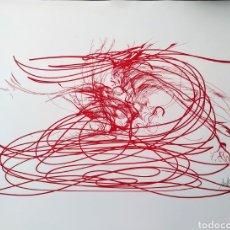 Arte: RAYMOND MORETTI - LES PHRASES ROUGES. Lote 222135091