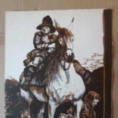 Art: MANUEL ALCORLO (MADRID, 1935) LITOGRAFÍA 1974 DE 50X38 FIRMADA LÁPIZ Y 150/231. PERFECTA!. Lote 222164433