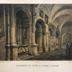 Arte: ENTERRAMIENTOS DEL CLAUSTRO DE LA CATEDRAL SALAMANCA. PARCERISA. LIT. LABIELLE. (LIT. 31,5 X 22 CM). Lote 222443875