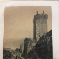 Arte: CASTILLO DE LA MOTA TORRE DEL HOMENAJE. PARCERISA. LIT. LABIELLE. (LIT. 31,5 X 22 CM). Lote 222443903