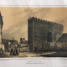 Arte: TALAVERA DE LA REINA RESTOS DE ANTIGUA FORTIFICACIÓN. PARCERISA. (LIT. 32 X 22,5 CM). Lote 222444140