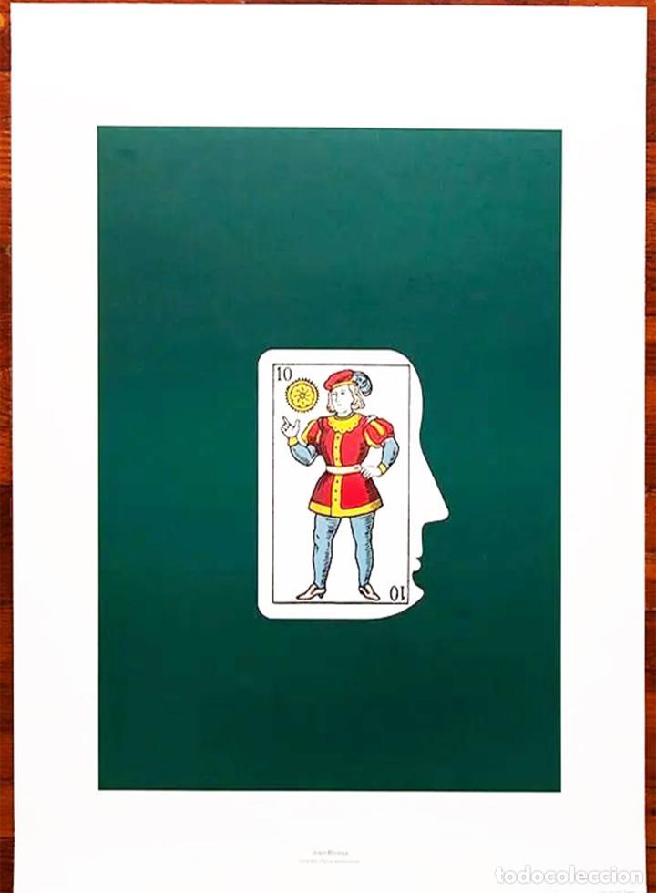 Arte: Joan Brossa Litografía .Años 90.Colección Arte y Trabajo del Ministerio de trabajo. Con marco 73x53 - Foto 3 - 222723120