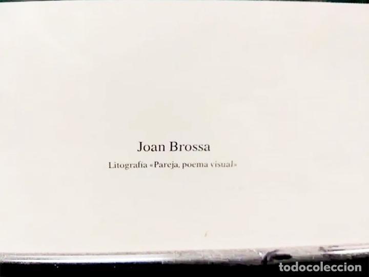 Arte: Joan Brossa Litografía .Años 90.Colección Arte y Trabajo del Ministerio de trabajo. Con marco 73x53 - Foto 5 - 222723120
