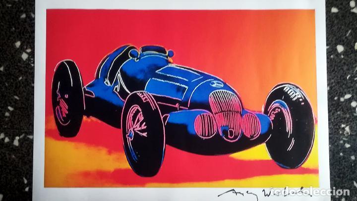 Arte: Andy Warhol-Mercedes-Benz W 125 Grand Prix Car-Firmado a mano.Edicion limitada 500-50,8 x 68,58 cm - Foto 3 - 222723458