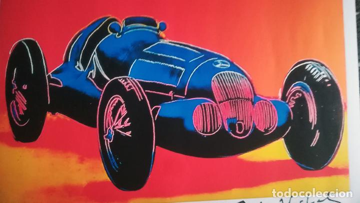 Arte: Andy Warhol-Mercedes-Benz W 125 Grand Prix Car-Firmado a mano.Edicion limitada 500-50,8 x 68,58 cm - Foto 4 - 222723458