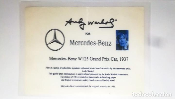 Arte: Andy Warhol-Mercedes-Benz W 125 Grand Prix Car-Firmado a mano.Edicion limitada 500-50,8 x 68,58 cm - Foto 6 - 222723458