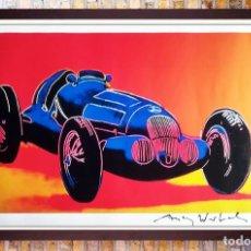 Arte: ANDY WARHOL-MERCEDES-BENZ W 125 GRAND PRIX CAR-FIRMADO A MANO.EDICION LIMITADA 500-50,8 X 68,58 CM. Lote 222723458
