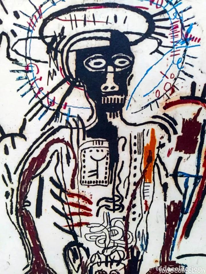 Arte: Cuadro Jean-Michel Basquiat - Litografía - Edicion Limitada 250 , firmada y Numerada Untitled, 1981 - Foto 2 - 222723540