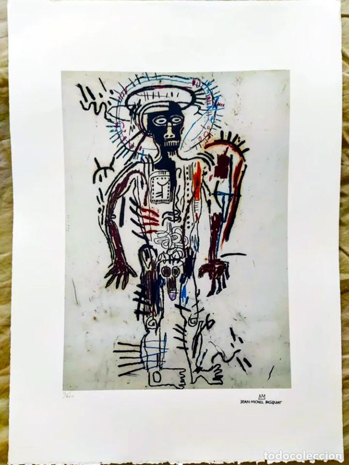 Arte: Cuadro Jean-Michel Basquiat - Litografía - Edicion Limitada 250 , firmada y Numerada Untitled, 1981 - Foto 4 - 222723540