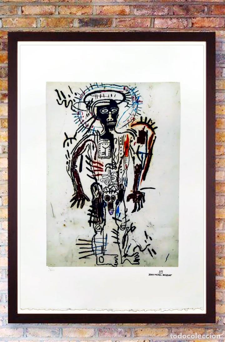CUADRO JEAN-MICHEL BASQUIAT - LITOGRAFÍA - EDICION LIMITADA 250 , FIRMADA Y NUMERADA UNTITLED, 1981 (Arte - Litografías)