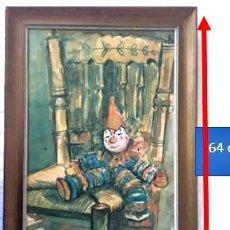 """Arte: """"MUÑECO PAYASO SENTADO"""". POR WAELSDENS MADRID MAYO 16-70. Lote 222732582"""