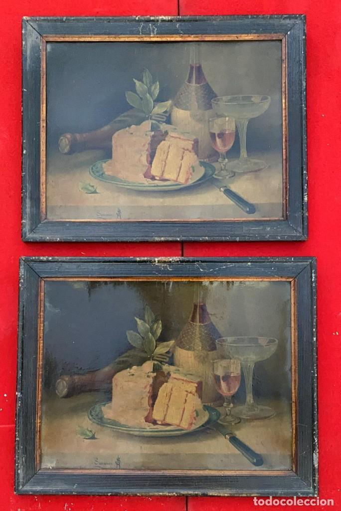 LITOGRAFIAS ANTIGUAS EN CARTON FIRMADAS PARECE QUE PONE SAUVAGE DE 47 X 38 CMS. (Arte - Litografías)