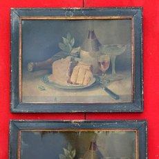 Arte: LITOGRAFIAS ANTIGUAS EN CARTON FIRMADAS PARECE QUE PONE SAUVAGE DE 47 X 38 CMS.. Lote 222739662